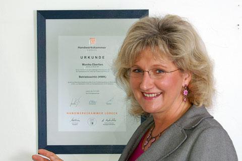 Einstieg von Monika Eberlien als Betriebswirtin des Handwerks